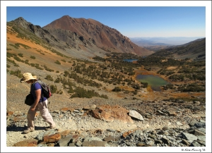 Is this paradise or what? Hiking the summit at Virginia Lakes