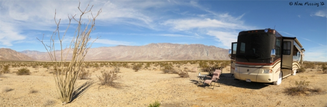 Panoramic stitch view of our site...why go anywhere else?