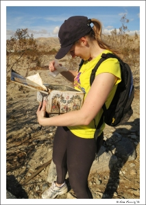 Sis digs into a very cool geocache