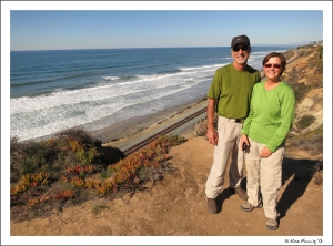 Lu & Terry on the cliffs just south of Del Mar beach