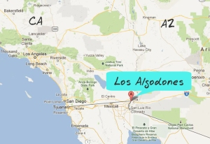 Map of Los Algodones