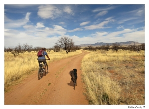 Biking with Polly at Las Cienegas