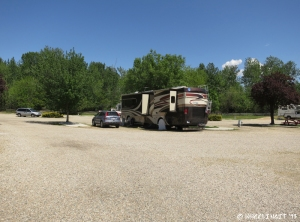 Back view of our RV site. We had no-one to the left and right side is empty.